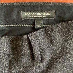 Banana Republic Modern Slim Fit Wool Pants